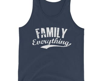 Unisex Family Everything Tank Top - Family lovers gifts,  dad tank top, gift for dad, dad shirt, dad tank, gift for him,  family is forever