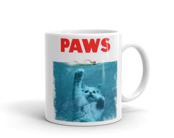 cat lover gift, cat gift, cat mom, cat mug, cat paw, paw print, cat lover, cat paw print, funny cat mug, cat lover mug, cat coffee mug