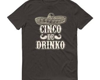 Men's Cinco de drinko t-shirt - Drinking shirt for cinco de mayo party, tequila shirt, tacos and tequila, drinking shirt