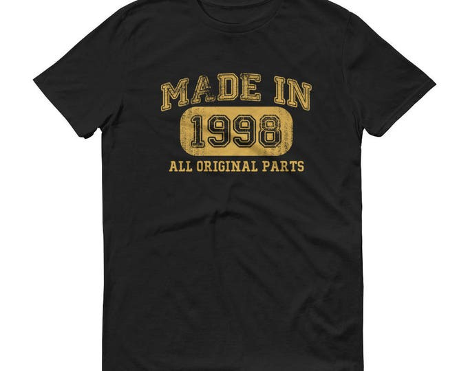 1998 Birthday Gift, Vintage Born in 1998, 21st Birthday shirt for him, Made in 1998 T-shirt, 21 Birthday