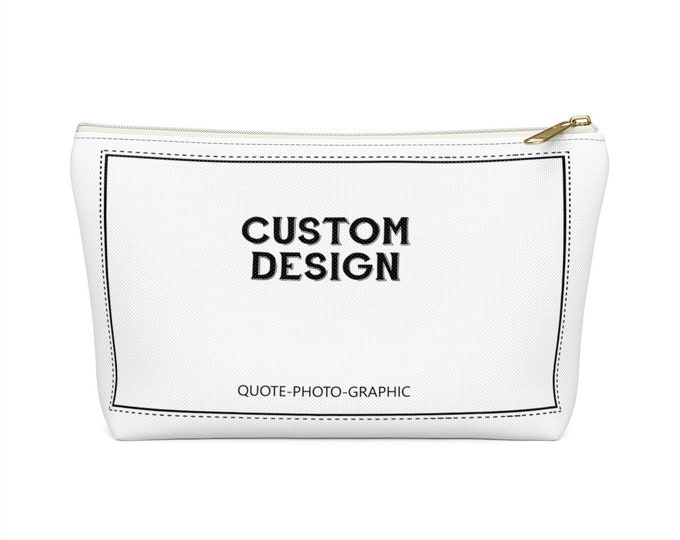 Custom Makeup Bags - Personalized Accessory Pouch W T-Bottom - pencil case customizable - pencil Bag with name photo picture animal pattern