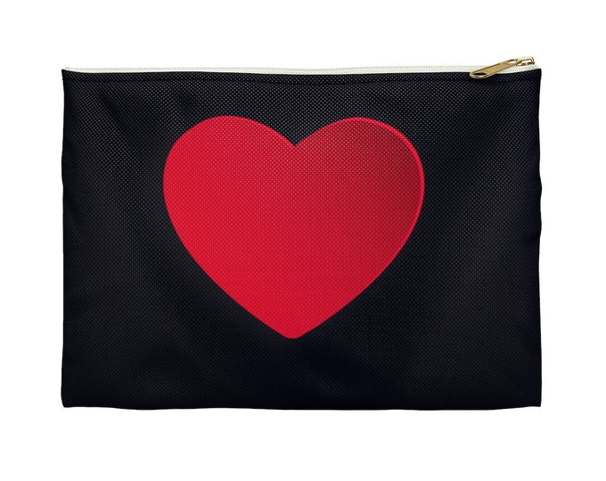Heart Love MakeUp Accessory Pouch ValentineS Day Gifts- Gift for Girlfriend, Wife , Mom Make Up bag , Cosmetic Bag | BelDisegno