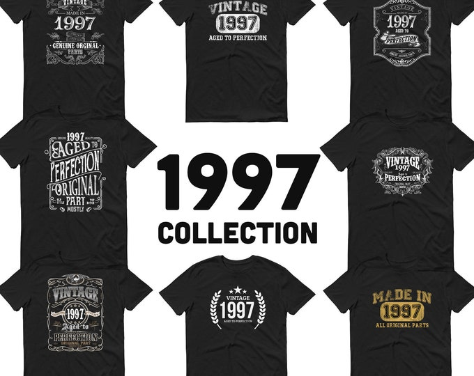 1997 Birthday Gift, Vintage Born in 1997, 22nd Birthday shirt for him, Made in 1997 T-shirt, 22 Year Old Birthday Gift 1997 Collection