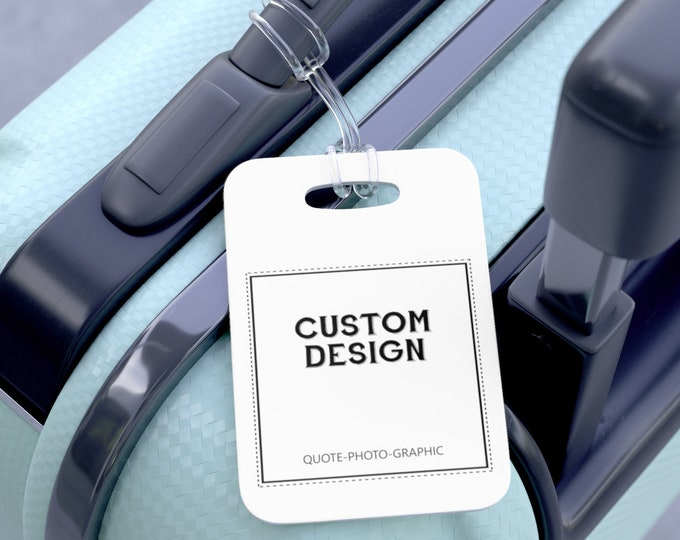 Personalized Luggage Tags - Family Luggage Tag - Monogram Travel Bag Tags - Luggage Tag Set - Custom Luggage Tags Photo Travel Gift