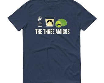 Men's The three amigos t-shirt - Tequila Shirt, Funny Drinking Shirt for cinco de mayo, funny tequila shirt, tacos and tequila