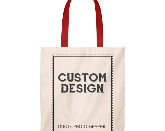 Valentine's gift Personalized Tote Bag  Vintage - Custom Shopping bag for women / kids / dog / walkers / book
