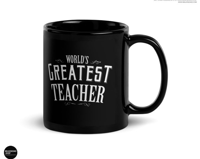 Teacher gifts, World's Greatest Teacher Coffee Mug, teacher christmas gifts, funny teacher gifts, preschool kindergarten teacher