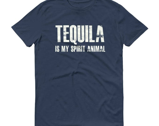 Tequila is my spirit animal t-shirt for men, Tequila shirt for him, tequila shirt, tacos and tequila, drinking shirt, funny drinking shirt