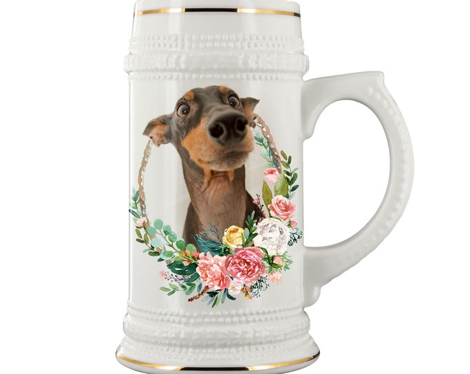 Custom Beer Steins Personalized Photo Beer Stein Groomsmen Beer Stein ceramic beer mug