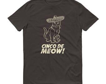Men's Cinco de Meow t-shirt - cinco de mayo shirt, Gato shirt funny cinco de mayo gift