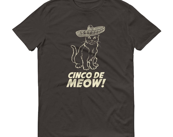 Men's Cinco de Meow t-shirt - cinco de mayo shirt, Gato shirt funny cinco de mayo gift