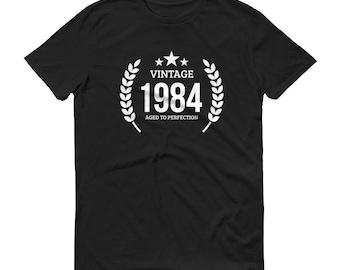 1984 Birthday Gift, Vintage Born in 1984 t-shirt for men, 34th Birthday shirt for him, Made in 1984 T-shirt, 34 Year Old Birthday Shirt