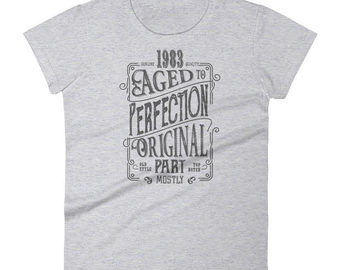1983 Birthday Gift, Vintage Born in 1983 t-shirt for women, 36th Birthday shirt for her, Made in 1983 T-shirt, 36 Year Old Birthday Shirt