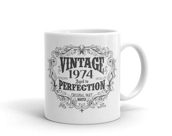 Born in 1974 mug, 47 years old Coffee Mug, Birthday Gift for Men Women, 47th birthday gift, 1974 birthday gift for him her