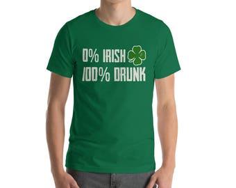 0 Irish 100 Drunk Shirt St Patrick's Day t-shirt