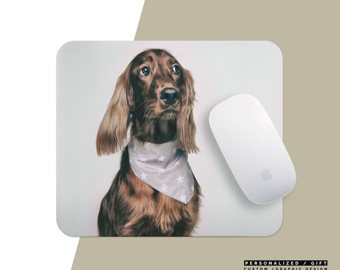 Custom Mousepad Name, Personalized Mouse Pad , Marble Mousepad, Floral Mousepad with saying picture animal cat dog photo picture self gift