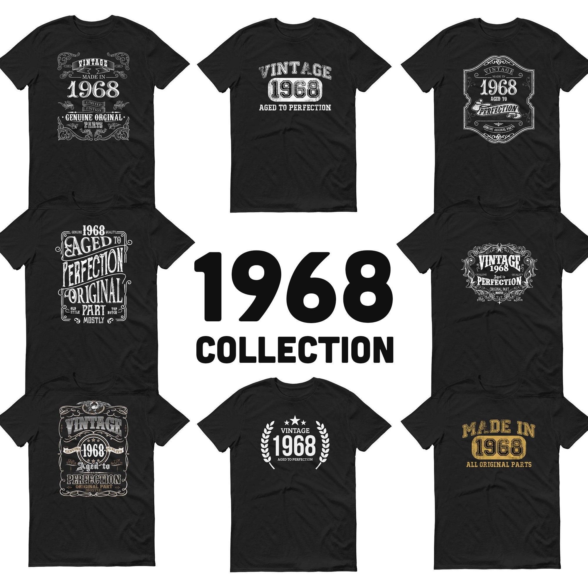 52nd Birthday Gifts Presents Year 1968 Unisex Ringer T-Shirt Old Banger Car