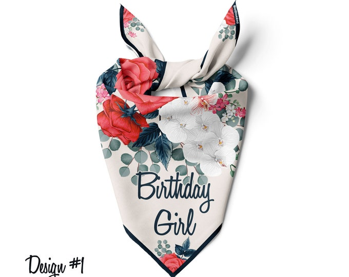 Dog bandanas birthday Custom Cat Bandana, Personalized Pet Birthday boy Birthday girl Scarf Dog Scarf self gift