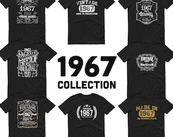 1967 Birthday Gift, Vintage Born in 1967 t-shirt, 54th Birthday shirt, Made in 1967 T-shirt, 54 Year Old Birthday Shirt - 1967 Collection