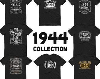 1944 Birthday Gift, Vintage Born in 1944 t-shirt for men, 77th Birthday, Made in 1944 T-shirt, 77 Year Old Birthday Shirt - 1944 Collection