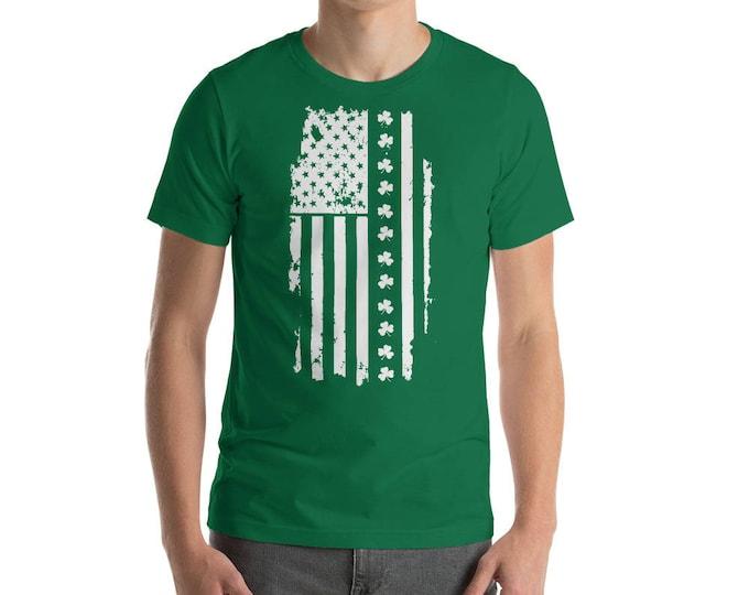 St Patrick's day Irish American flag USA America Map Saint Patricks shamrock Lucky Clover Leaf