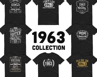 1963 Birthday Gift, Vintage Born in 1963 t-shirt, 58th Birthday shirt, Made in 1963 T-shirt, 58 Year Old Birthday Shirt - 1963 Collection