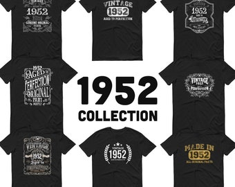 1952 Birthday Gift, Vintage Born in 1952 t-shirt for men, 69th Birthday, Made in 1952 T-shirt, 69 Year Old Birthday Shirt, 1952 Collection