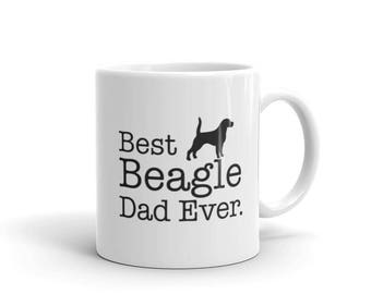 Beagle Christmas Beagle gift for him, Beagle dad mug, Best Beagle Dad Ever Coffee Mug, beagle mug, beagle lover, beagle owner, beagle print