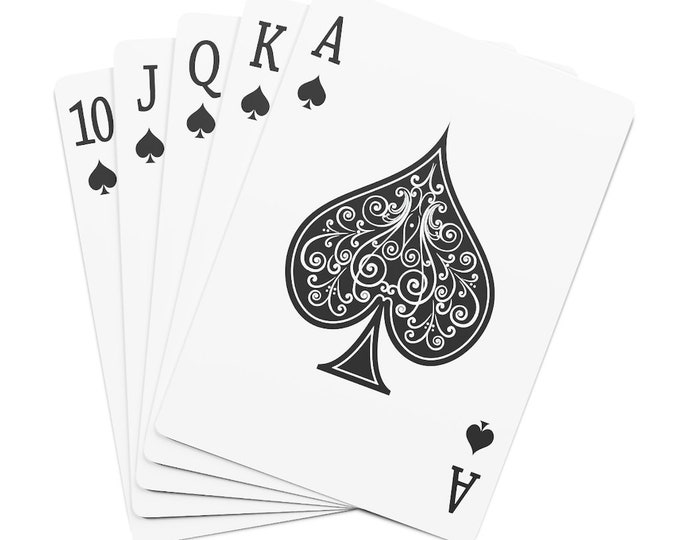 Custom Poker Cards Personalized gift for men, customizable playing cards