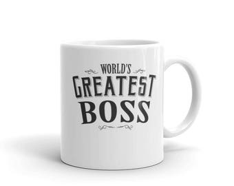 Boss mug for women, World's Greatest Boss Coffee Mug