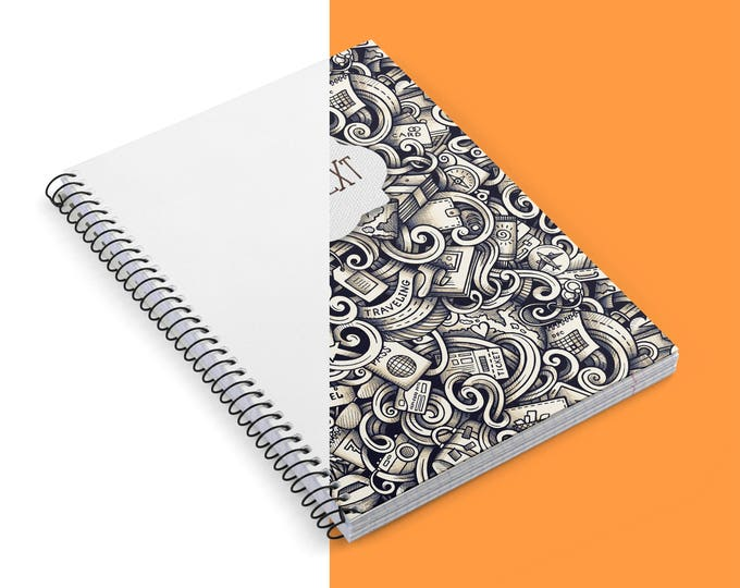 Personalized Spiral Notebook Ruled Line - Custom name notebook - Notebook with name / photo / logo   Custom Cover notebook   self gift