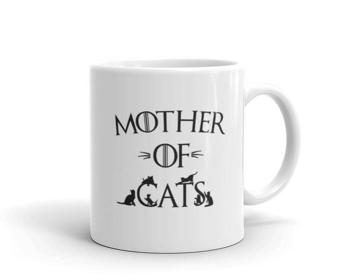 Cat Lover gift, Mother of Cats Coffee Mug, funny gift for cat lovers, cat owners, Cat mom gift