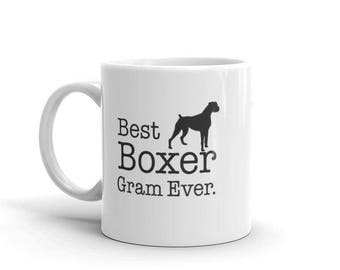 Boxer Dog Gift for Best Boxer Gram Ever Coffee Mug for Boxer lovers, Gift for Boxer owner