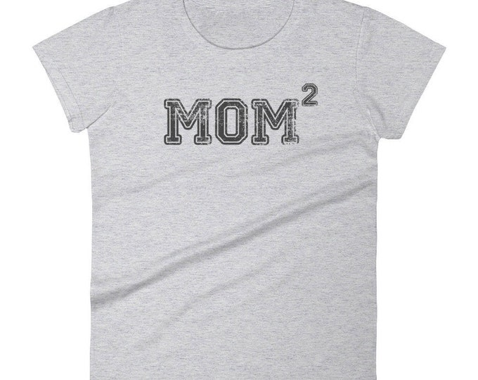 Proud mom of two t-shirt - Gift for mother of 2 kids, mom shirt, funny mom shirt, mom gift, mom of two, mom 2, mom to be, proud mom