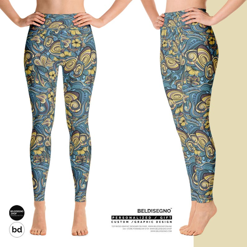 Personalized Yoga Leggings for women Customize With your photo Logo Graphic custom text quote Unique Customizable leggings gift for her