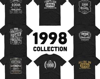 1998 Birthday Gift, Vintage Born in 1998, 23rd Birthday shirt for him Her, Made in 1998 T-shirt, 23 Birthday for Men Women