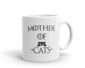Mother of Cats Coffee Mug, cat lover gift, cat gift, mother of cats, cat mom, cat mug, mother of cats mug, cat lovers, cat coffee mug