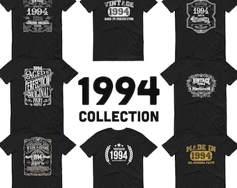 1994 Birthday gift, Vintage Born in 1994, 27th Birthday shirt for him her, Made in 1994 T-shirt, 27 Year Old Birthday Shirt for men women