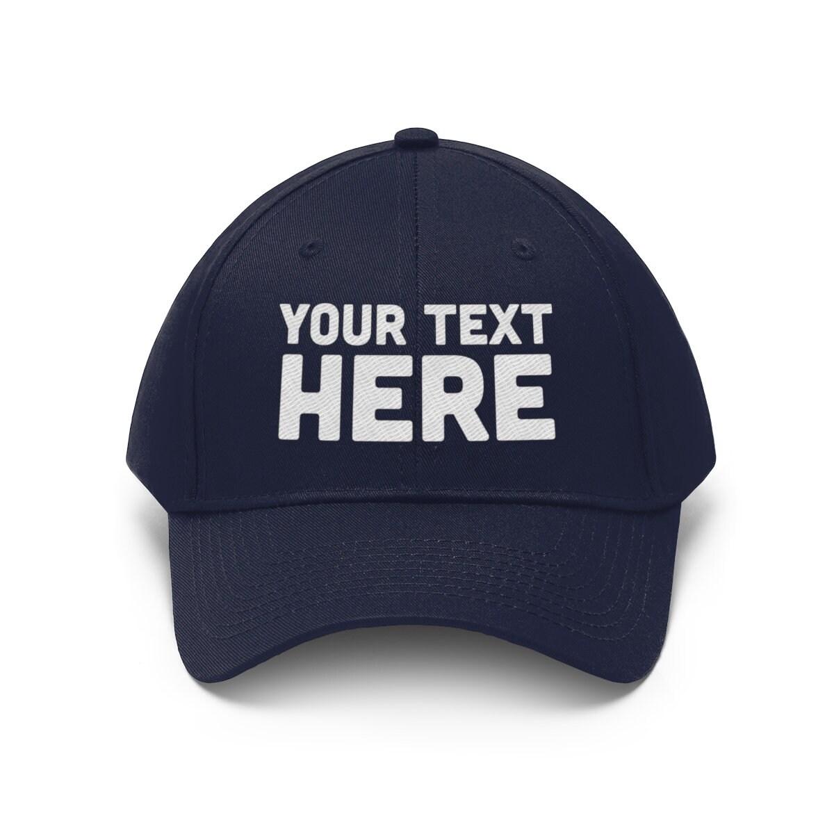 fcdf80516f66b Custom Unisex Twill Hat - Personalized Embroidered Dad Hat ...