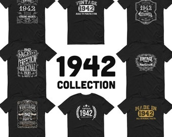 1942 Birthday Gift, Vintage Born in 1942 t-shirt for men, 79th Birthday, Made in 1942 T-shirt, 79 Year Old Birthday Shirt - 1942 Collection