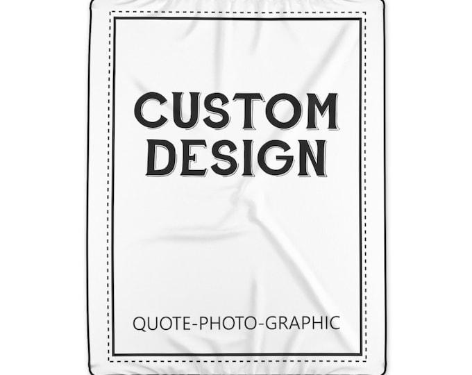 Custom Photo Blanket for Adult -Custom throw blanket - Custom Picture Blanket - Personalized Polyester Blanket - Personalized family blanket