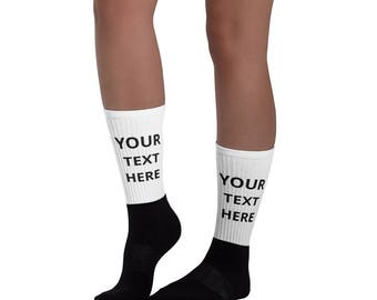 Personalized Socks - Funny custom Socks with saying, image, photo  Customize With your photo - Logo - Graphic custom text quote self gift