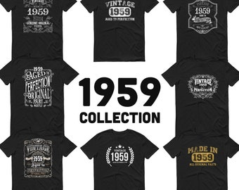 1959 Birthday Gift, Vintage Born in 1959 t-shirt, 62nd Birthday shirt, Made in 1959 T-shirt, 62 Year Old Birthday Shirt - 1959 Collection