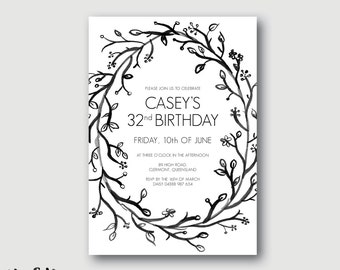 ROSIE birthday party invitation / kids or adults / affordable printable birthday / digital file
