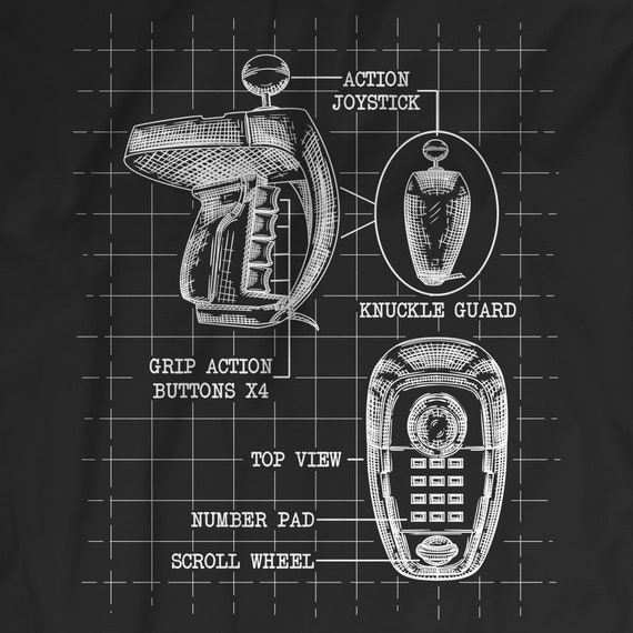 Colecovision Super Action Controller Blueprint Concept T-Shirt - Retro  Video Game Shirt - Remember Coleco   Such an Underrated Game Console