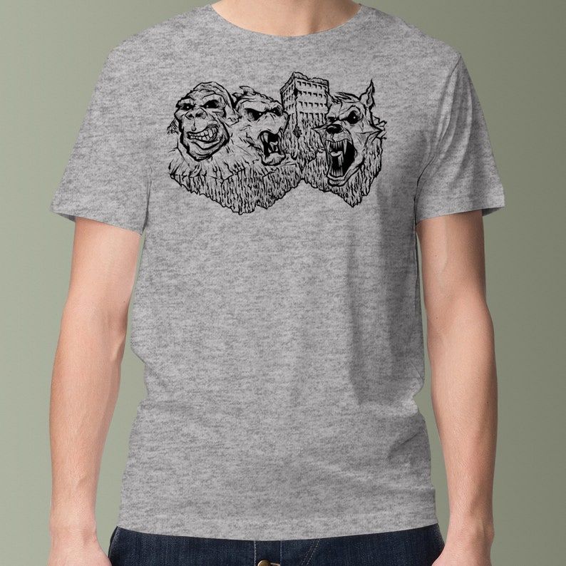 Video Game T-Shirt  Rampage Monsters On Mount Rushmore  image 0