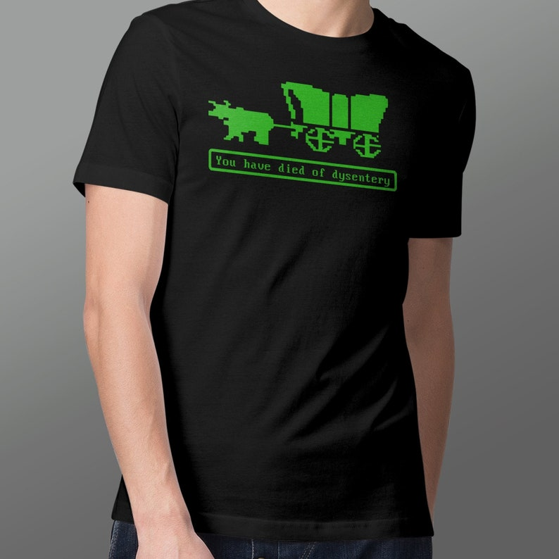 Oregon Trail T-Shirt  Died of Dysentery  Parody Shirt Design image 0