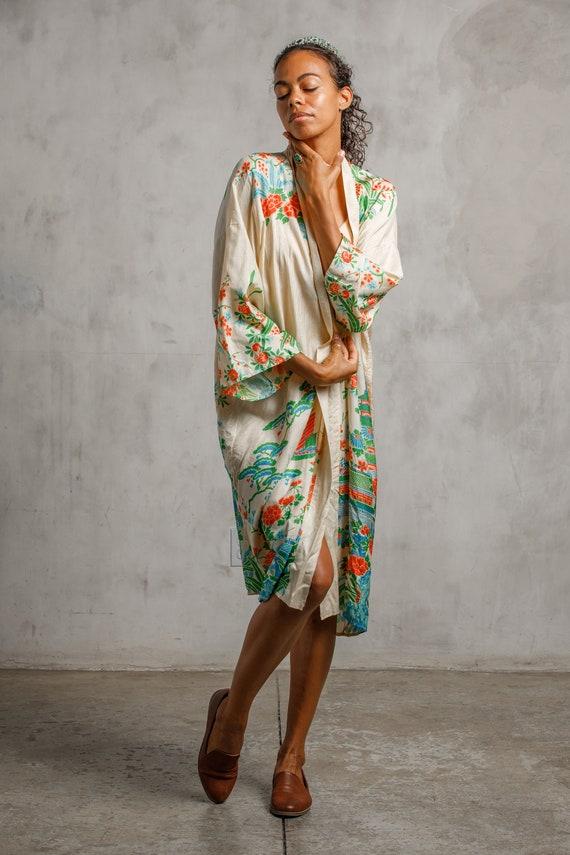1920s Pongee Silk Robe - image 2