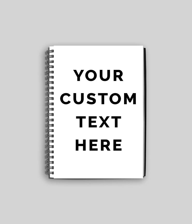 Personalized Notebook // Custom Spiral Notebook // Custom image 0