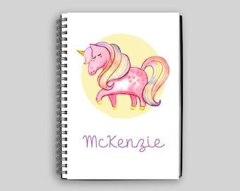 Unicorn Notebook // Personalized Unicorn Notebook // Unicorn // Custom Notebook // Child's Diary // Child's Journal // Unicorn Gift